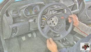 снятие и установка рулевого колеса (руля)  Лада Гранта ВАЗ 2190