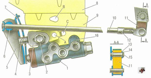 Привод регулятора тормозов автомобиля Лада Гранта ВАЗ 2190