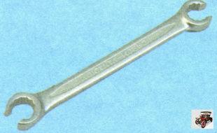 специальный ключ для откручивания гаек крепления тормозных трубок