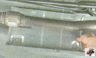 передний термоэкран дополнительного глушителя