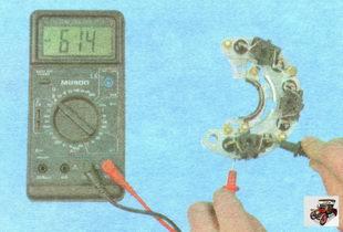 проверка выпрямительного блока генератора