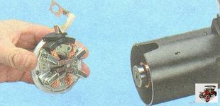 задняя крышка стартера со щеткодержателем и щетками