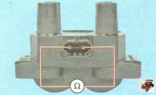 проверка на обрыв первичных цепей катушки зажигания