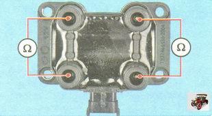 проверка на обрыв вторичных обмоток катушки зажигания
