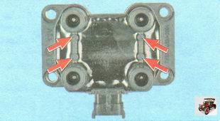 номера цилиндров, указанными на корпусе катушки зажигания