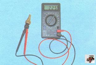 проверка датчика ДТОЖ (датчик температуры охлаждающей жидкости)