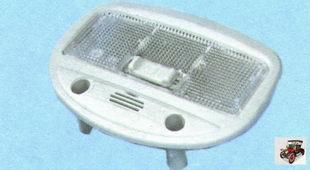 замена одиночного плафона освещения салона Лада Гранта ВАЗ 2190