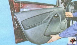 снятие обшивки двери водителя