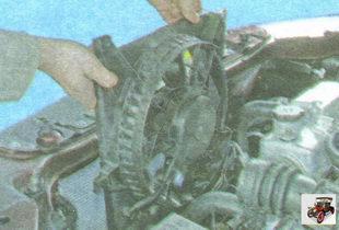 вентилятор охлаждения радиатора в сборе с кожухом Лада Гранта ВАЗ 2190