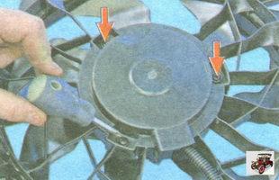 винты крепления вентилятора охлаждения радиатора