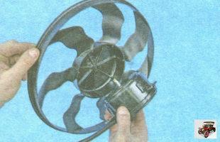 крыльчатка вентилятора охлаждения радиатора Лада Гранта ВАЗ 2190