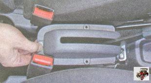 облицовка рычага стояночного тормоза Лада Гранта ВАЗ 2190