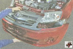 снятие переднего бампера Лада Гранта ВАЗ 2190