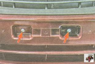 болты крепления переднего бампера к усилителю