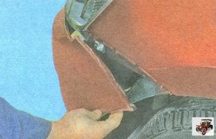 боковые защелки крепления переднего бампера к крылу