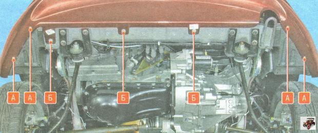 нижнее крепление переднего бампера Лада Гранта ВАЗ 2190