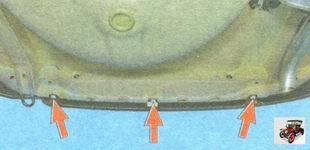 болты нижнего крепления заднего бампера к кузову автомобиля Лада Гранта ВАЗ 2190