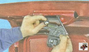 разъем жгута проводов привода замка