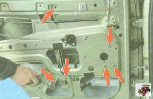 гайки крепления стеклоподъемника к задней двери Лада Гранта ВАЗ 2190