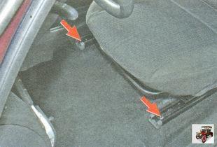 болты переднего крепления направляющих салазок сиденья Лада Гранта ВАЗ 2190