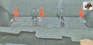 болты переднего крепления кронштейнов спинки заднего сиденья