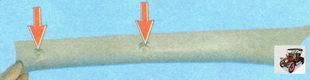 накладка передней стойки кузова (вид с внутренней стороны)