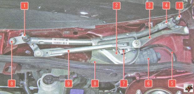 механизм стеклоочистителя Лада Гранта ВАЗ 2190