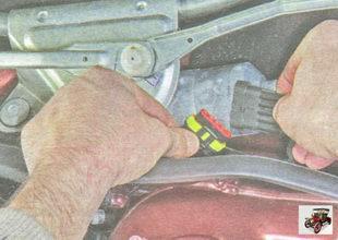 разъемы жгута проводов стеклоочистителя Лада Гранта ВАЗ 2190