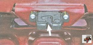 место смазки замка крышки багажника