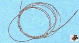стальная струна для снятия вклеенного стекла