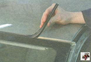 верхний уплотнитель лобового стекла Лада Гранта ВАЗ 2190
