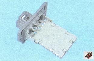 блок дополнительных резисторов вентилятора печки (воздухонагнетатель отопителя салона)