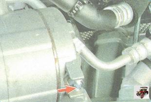 клапан сброса аварийного давления установлен на крышке компрессора кондиционера