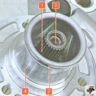 элементы передней крышки компрессора кондиционера Лада Гранта ВАЗ 2190