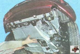 средняя часть защиты двигателя