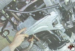 правая защита двигателя