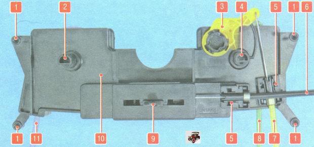 Блок управления заслонками воздуховодов Лада Гранта ВАЗ 2190