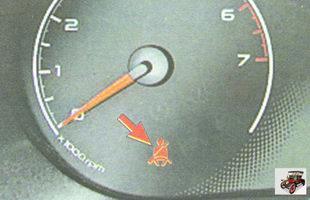 сигнализатор непристегнутого ремня безопасности водителя Лада Гранта ВАЗ 2190