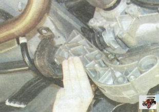 кронштейн с подушкой опоры двигателя