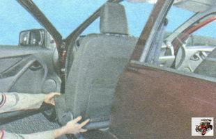 снимите переднее сиденье Лада Гранта ВАЗ 2190