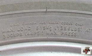 информация о грузоподъемности шины
