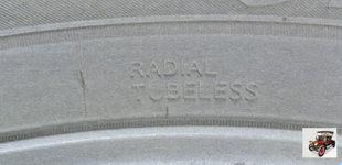 Radial Tubeless - радиальная бескамерная конструкция шины