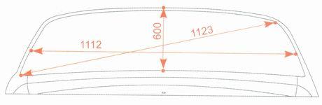 Контрольные размеры проема заднего стекла кузова Лада Гранта ВАЗ 2190