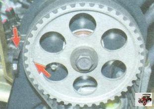 метки ВМТ двигателей ВАЗ 11183, ВАЗ 21116 и ВАЗ 11186