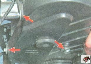 болты крепления передней крышки ремня привода ГРМ