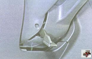 ручка механизма регулировки положения рулевого колеса (руля)