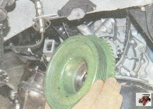 шкив привода генератора