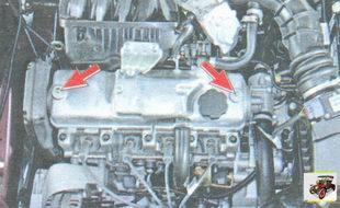 гайки крепления крышки головки блока цилиндров двигателя