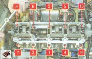 схема затяжки болтов головки блока цилиндров