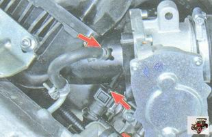 шланги малой ветви системы вентиляции картера и продувки адсорбера